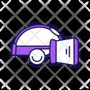 Head Goggles Simulation Icon