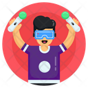 3 D Gaming Virtual Gaming Vr Player Icon