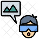 Virtual Tourism Technology Icon