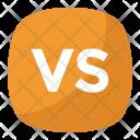 Vs Button Letters Icon