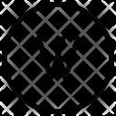 W Alphabet Sign Icon