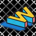 3 D W 3 D Letter 3 D Alphabet Icon