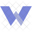 W Design Letter Icon