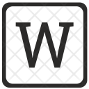 W Uppercase Letter Icon
