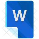 W File Format Icon