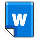 W File Extension Icon