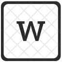 W Lowcase Element Icon