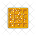 Waffle Powdered Sugar Dessert Icon