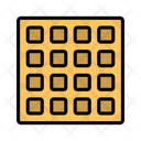 Waffle Wafer Cookie Icon