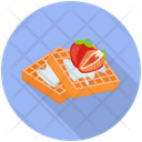 Waffle Dessert Sweet Food Icon