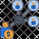 Wage Distribution Entrepreneur Icon
