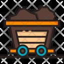 Wagon Mine Charioti Mining Cart Icon