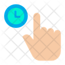 Fingure Hand Clock Icon