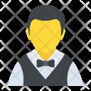 Waiter Male Stewardess Icon
