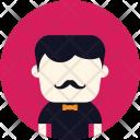 Waiter Bowtie Man Icon