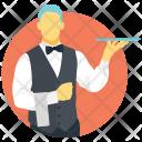Waiter Butler Bartender Icon