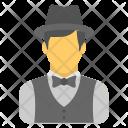 Waiter Bartender Male Icon