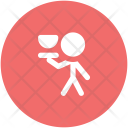 Waiter Food Serving Icon