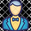 Waiter Young Boy Butler Icon
