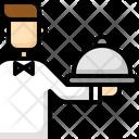 Waiter Waitress Food Icon
