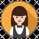 Waiter Female Avatar Icon