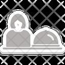 Waiter Waiting Staff Food Server Icon