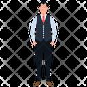 Waiter Attendant Waitperson Icon