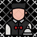 Waiter Restaurant Service Icon