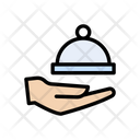 Waiter Serve Food Icon
