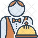 Waiter Attendant Catering Icon