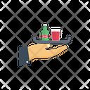 Waiter Serve Beverage Icon