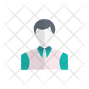 Waiter Boy Avatar Icon