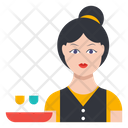 Waiter Serve Female Icon