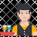 Waiter Male Boy Icon