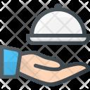 Waiter Hand Hold Icon