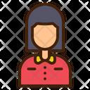 Waiter Avatar Woman Icon