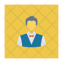 Waiter Restaurant Suit Icon