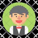 Waiter Man Job Icon