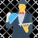 Butler Waiter Waiting Icon
