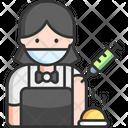 Waiter Female Waiter Woman Icon