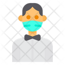 Waiter With Facemask Icon