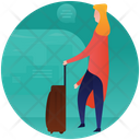 Waiting With Luggage Icon