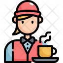 Waitress Cafe Restaurant Icon