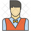 Waitress Man Avatar Icon