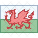Wales Flag Country Icon