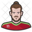 Wales Footballer Wales Footballer Icon