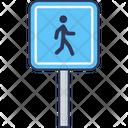 Walk Crossing Road Crossing Icon
