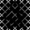 Walk Human Cross Icon