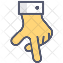 Walk Gesture Hand Icon