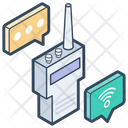Walkie Talkie Communication Wireless Device Icon